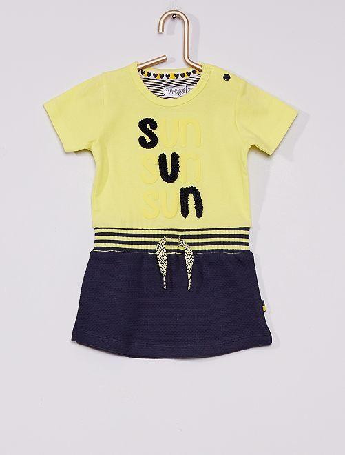 Robe 'sun'                             jaune/bleu marine