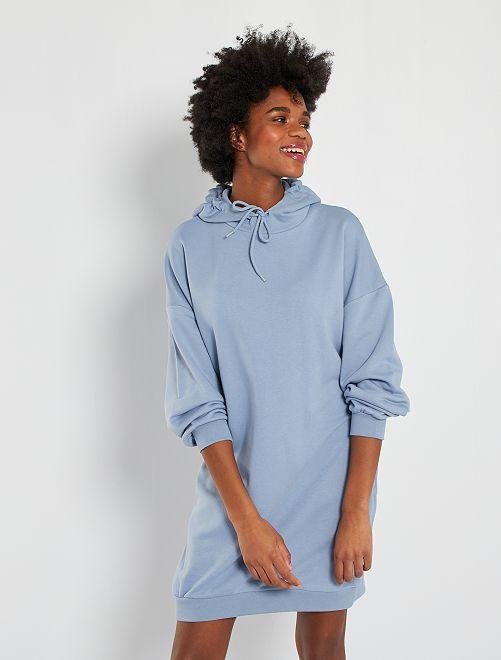Robe sweat à capuche                             bleu