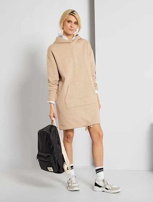 Robe sweat                                                     beige