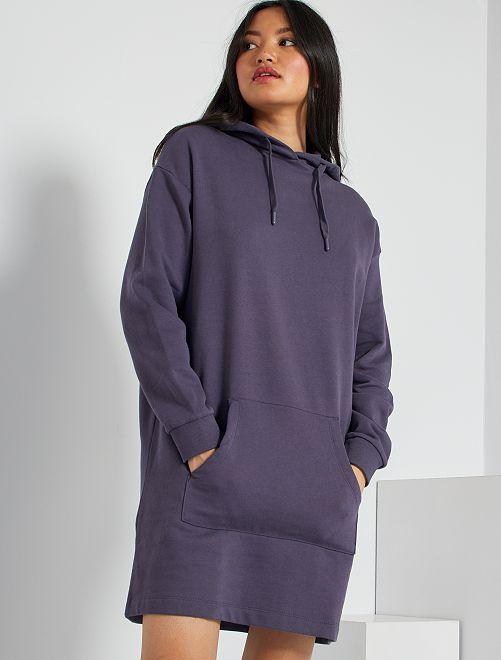Robe sweat                                 bleu foncé