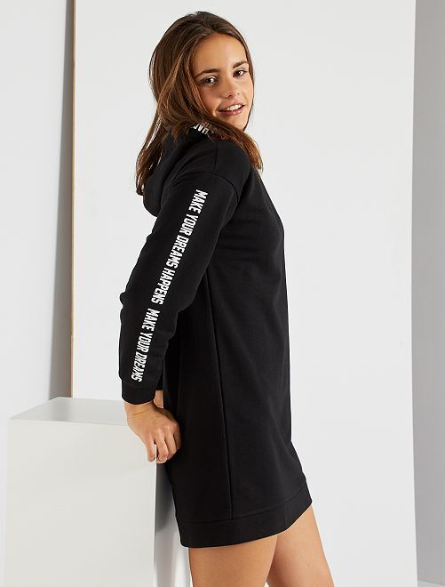 Robe sweat capuche                             noir