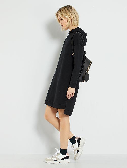 Robe sweat éco-conçue                             noir