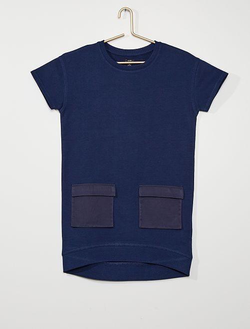 Robe sweat en molleton éco-conçue                             bleu