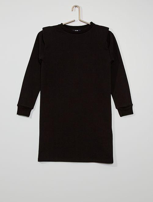 Robe sweat en molleton                                         noir