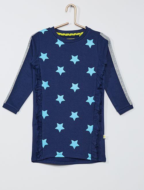 Robe sweat 'étoiles'                     bleu