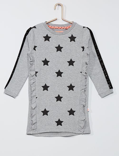 Robe sweat 'étoiles'                                         gris