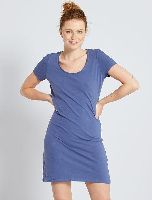 Robe T-shirt 'éco-conception'                                                                                         bleu indigo