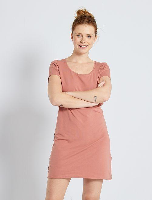 Robe T-shirt 'éco-conception'                                                                                         fuchsia