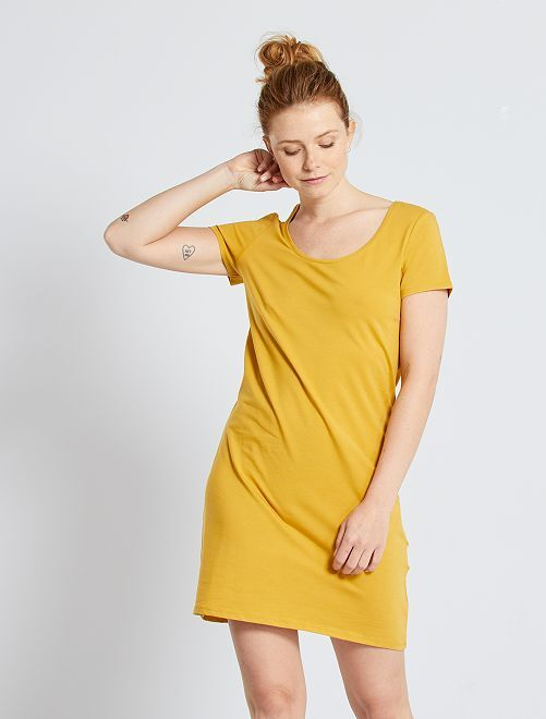 Robe T-shirt 'éco-conception'                                                                                         jaune