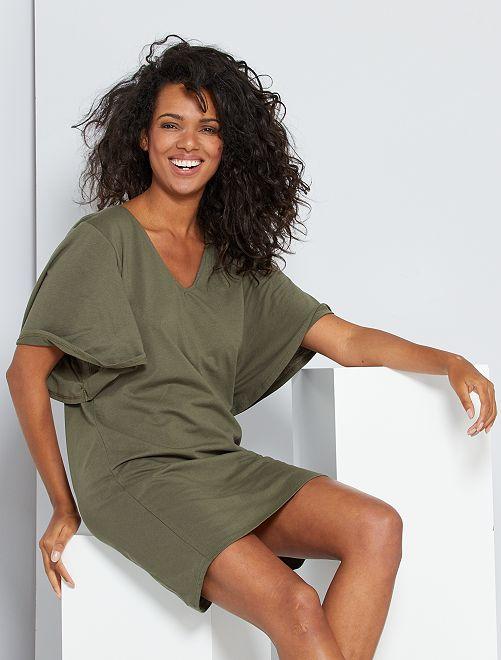 Robe T-shirt éco-conçu                                                                 kaki