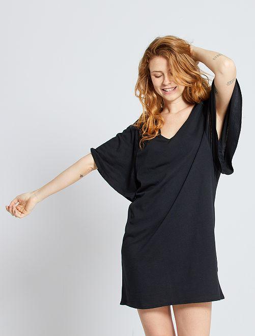 Robe T-shirt éco-conçu                                                                 noir