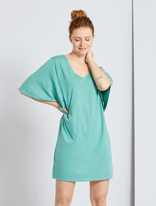 Robe T-shirt éco-conçu                                                                 vert amande