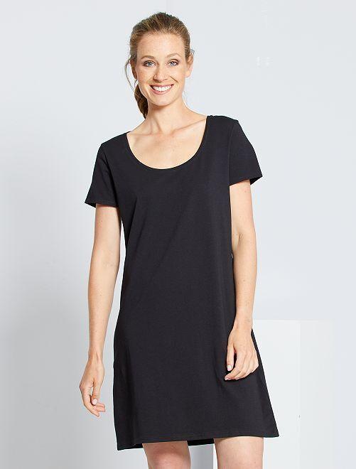 Robe T-shirt éco-conçue                                         noir