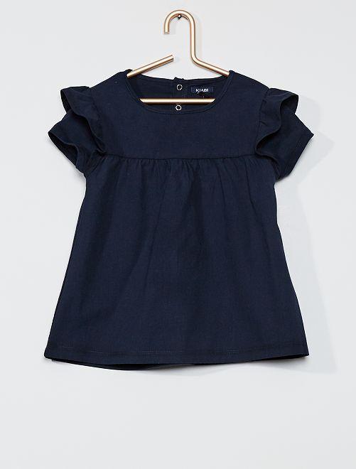 Robe t-shirt en coton                                         bleu marine