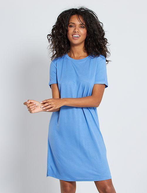 Robe T-shirt en modal                                                     bleu