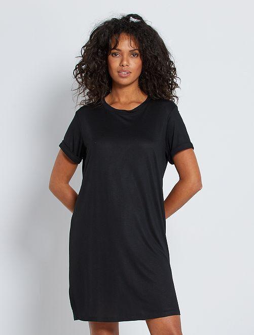 Robe T-shirt en modal                                                     noir