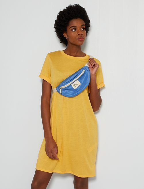 Robe t-shirt fluide                                                                 jaune