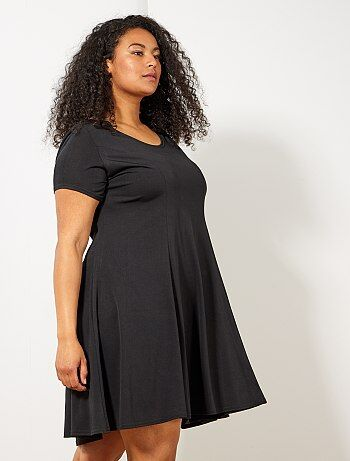 c0912a98400 Grande taille femme - Robe t-shirt forme patineuse - Kiabi
