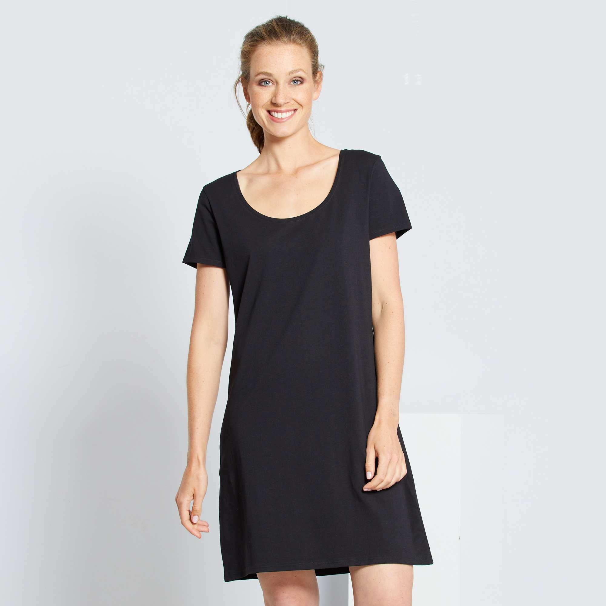 09e1927dac2 Robe tee-shirt Femme - noir - Kiabi - 8