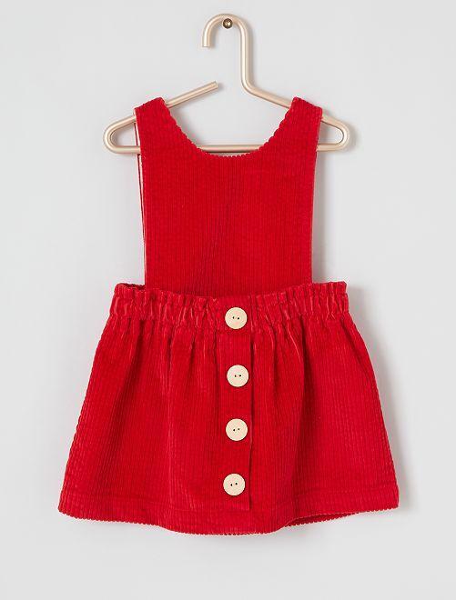 Robe velours éco-conçue                     rouge