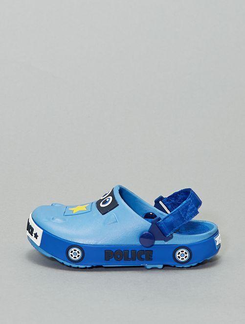 Sabots en plastique 'voiture'                             bleu