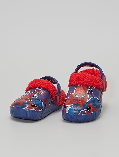 Sabots fourrure 'Spider-Man'                                         bleu
