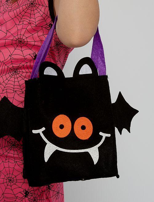 Sac à bonbons Halloween                             noir violet