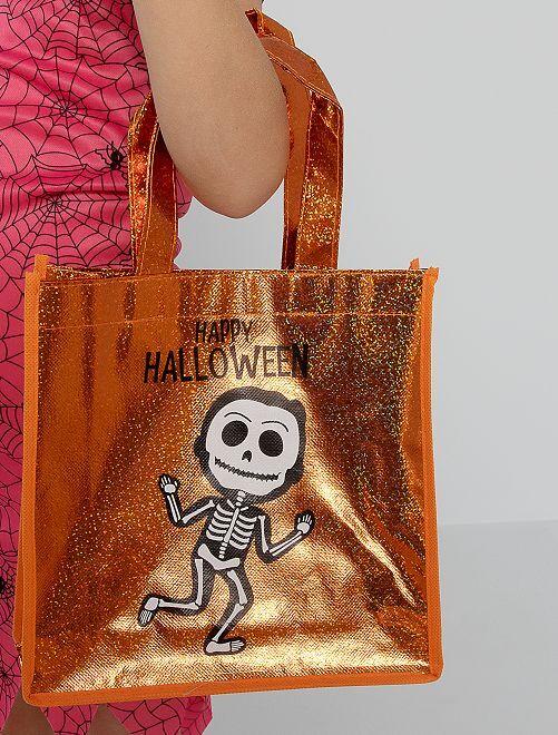 Sac à bonbons Halloween                             orange