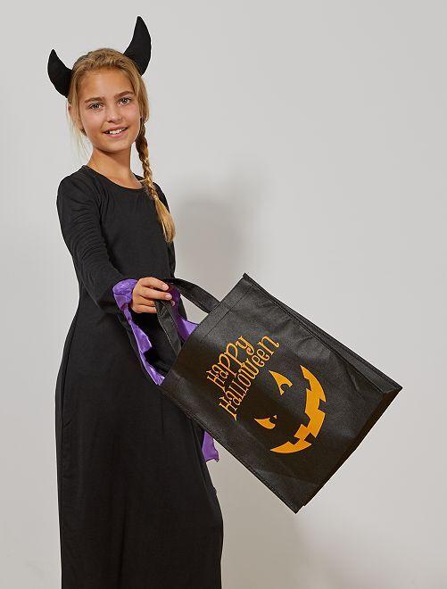 Sac à bonbons pour Halloween                                         noir