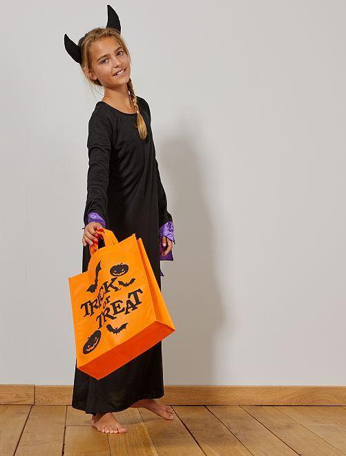 Sac à bonbons pour Halloween                                         orange