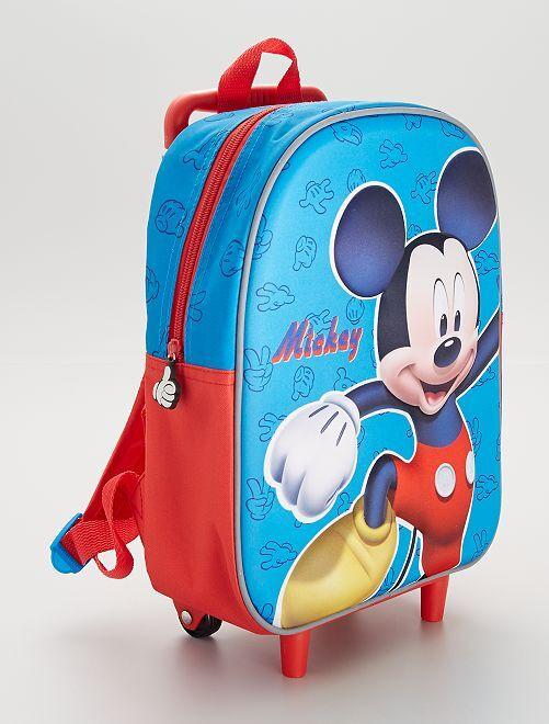 Sac à dos à roulettes 'Mickey'                             bleu/rouge