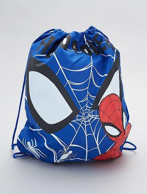 Sac à dos en toile 'Spider-man' de 'Marvel'                             bleu