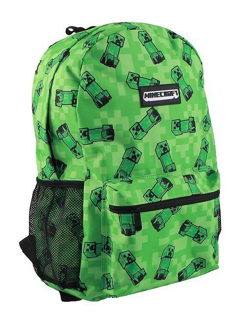 Sac à dos 'Minecraft'                             noir/vert