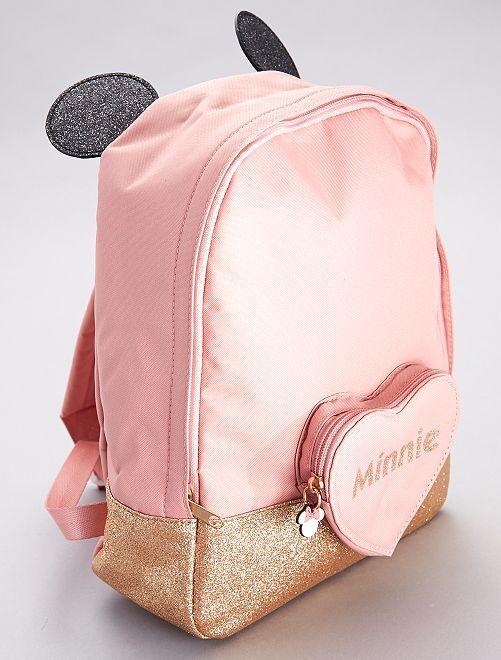 Sac à dos pailleté 'Minnie'                             rose