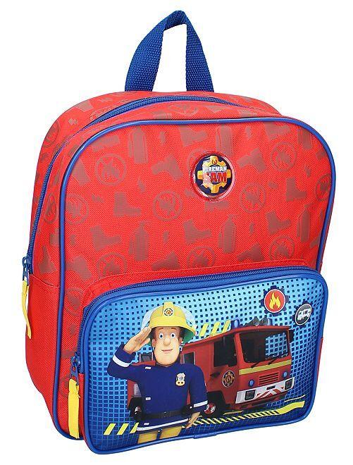 Sac à dos 'Sam le pompier'                             bleu/rouge