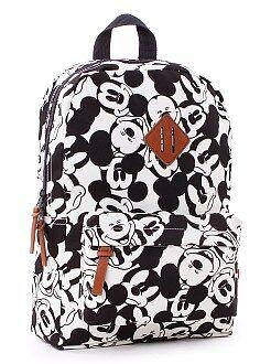 Cartable, tablier d'école - Sac à dos taille moyenne 'Mickey'