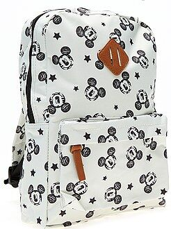 Cartable, tablier d'école - Sac à dos taille moyenne 'Mickey Mouse' - Kiabi
