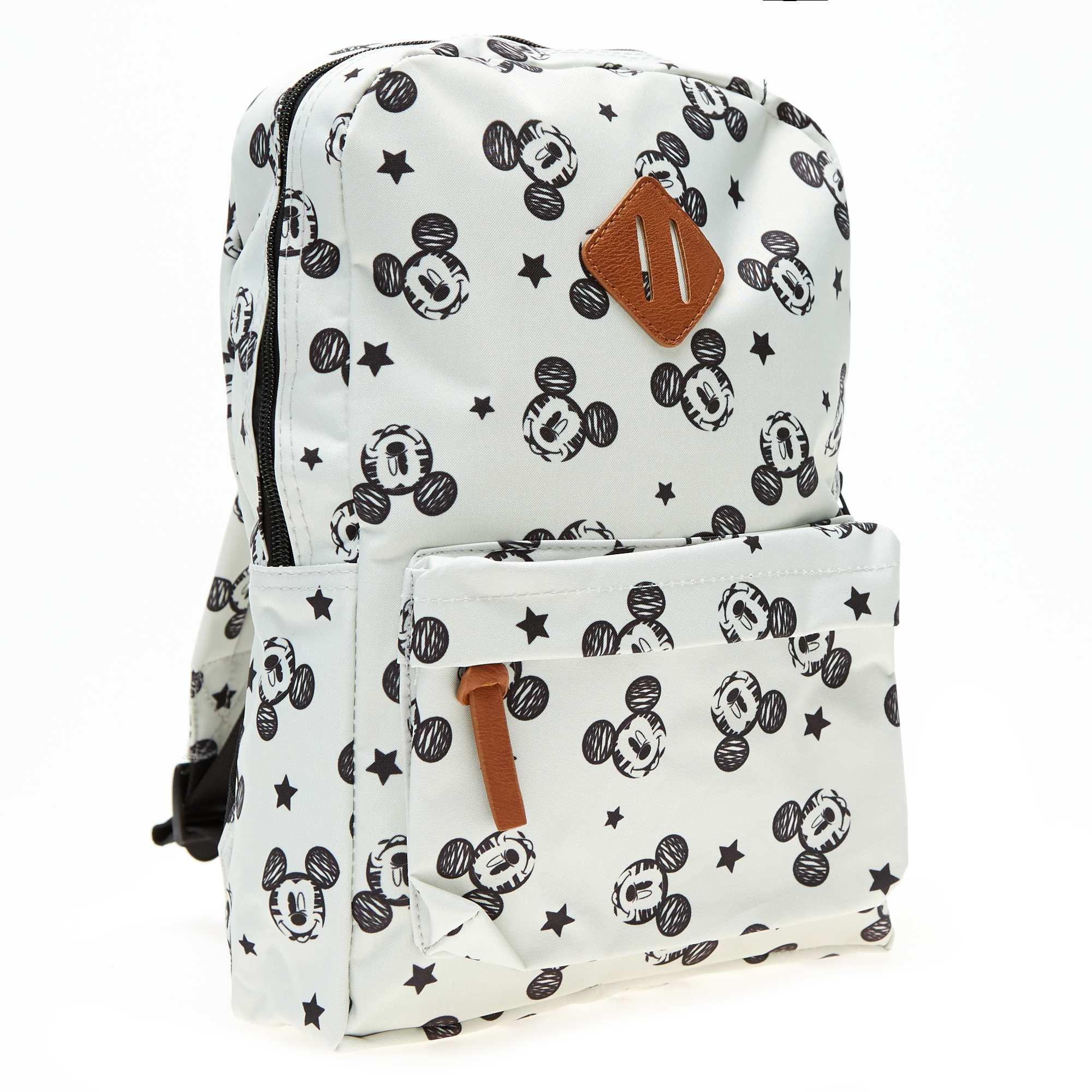 Couleur : blanc, , ,, - Taille : TU, , ,,Bien à l'école avec 'Mickey' ! - Sac à dos en polyester 'Mickey Mouse' de 'Disney' -