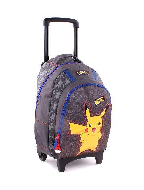 Sac à dos trolley 'Pikachu'                             gris/jaune Garçon