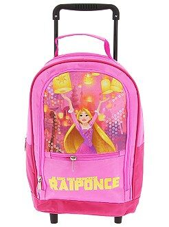 Cartable, tablier d'école - Sac à dos trolley 'Raiponce' - Kiabi