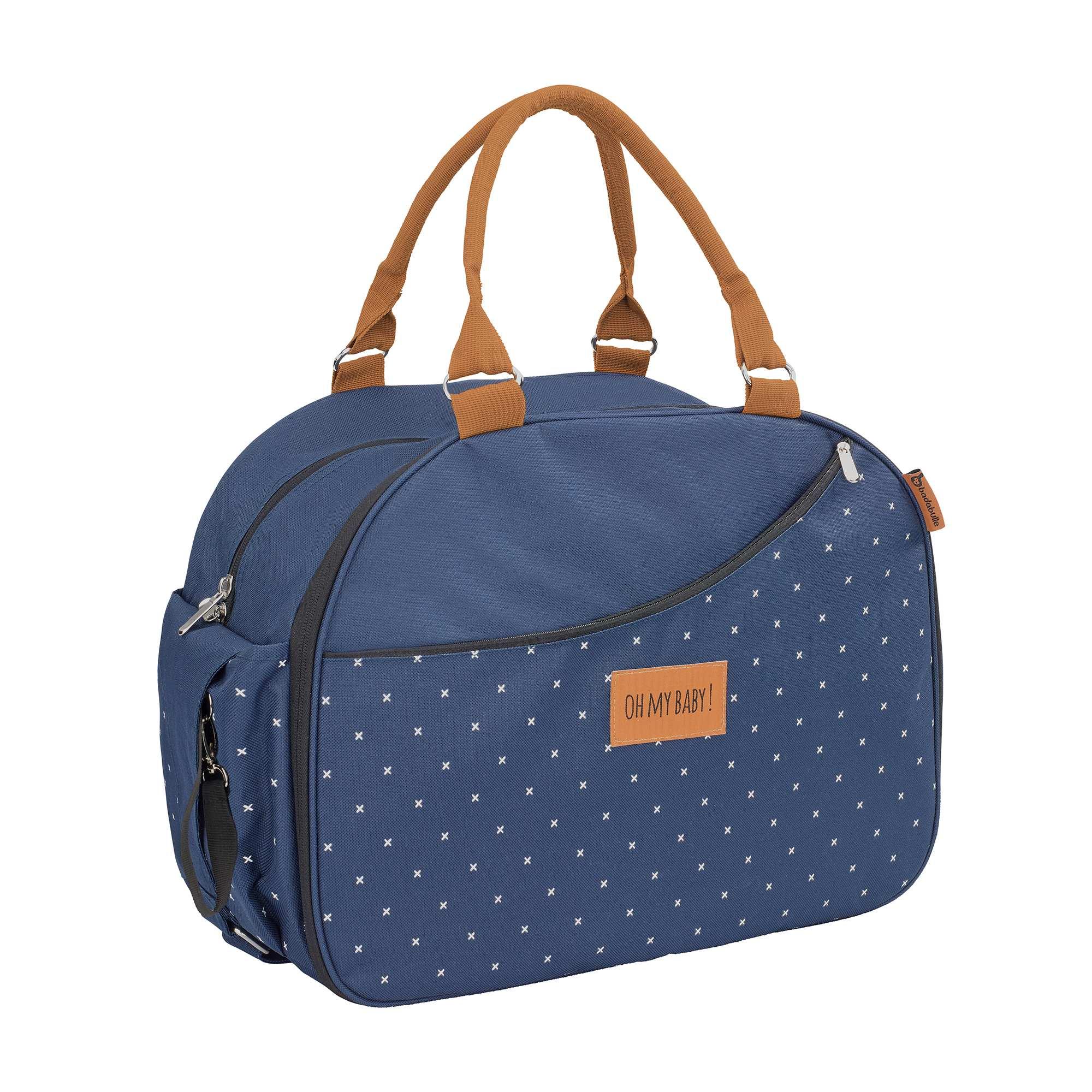 Couleur : bleu, anthracite, ,, - Taille : TU, , ,,Un sac à langer ultra pratique pour les petits déplacements ou pour partir en weekend,