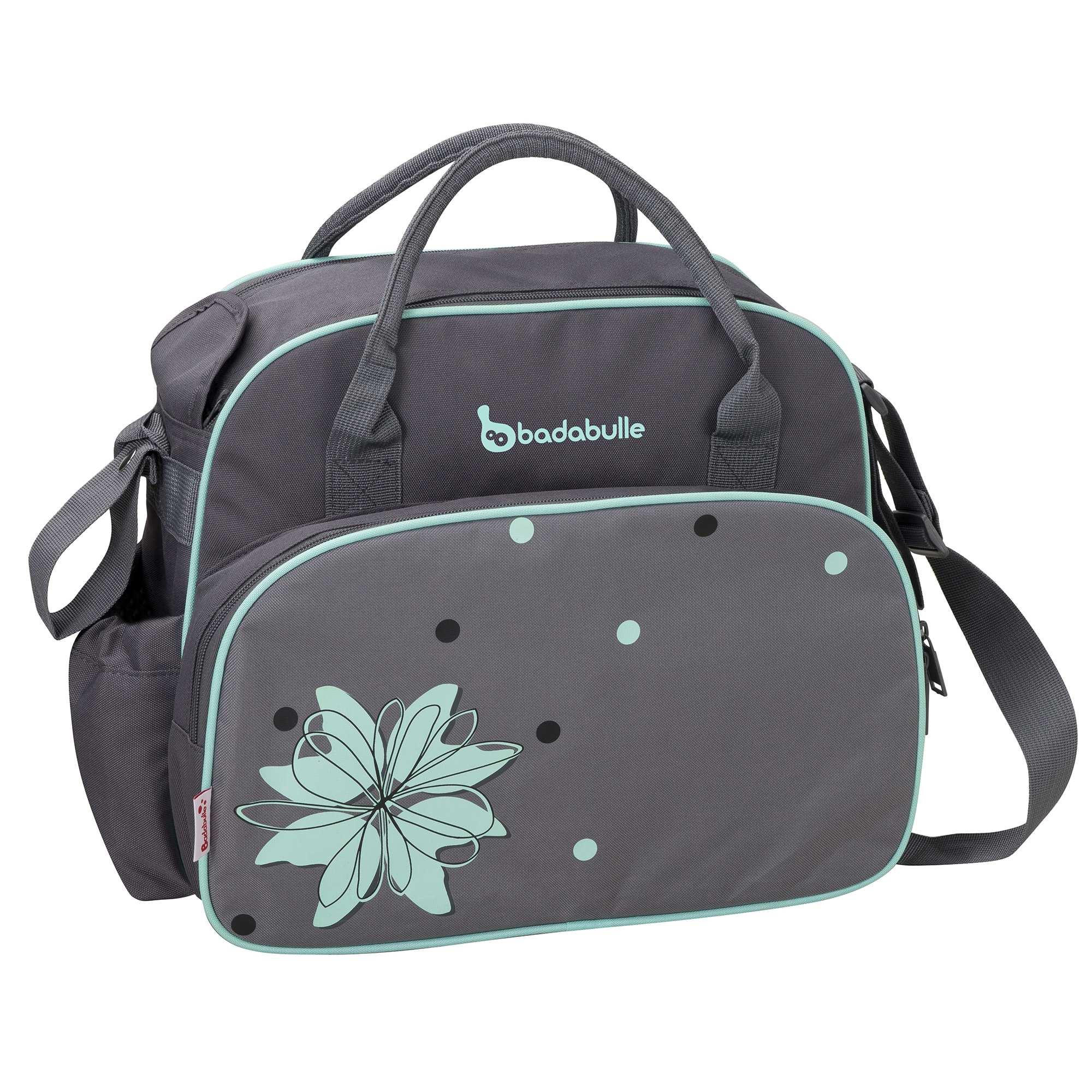 Couleur : gris, noir/fuchsia, ,, - Taille : TU, , ,,Ce sac à langer très pratique sera votre allié et celui de bébé dans tous vos