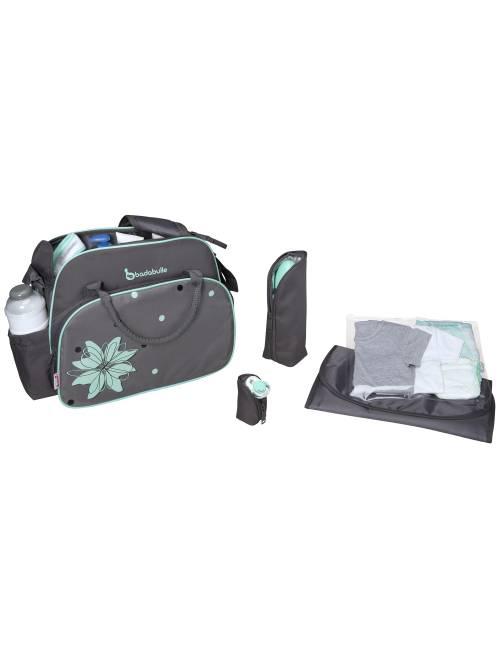 sac langer accessoires 39 badabulle 39 b b gar on gris kiabi 33 00. Black Bedroom Furniture Sets. Home Design Ideas