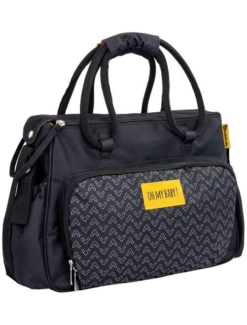 sac langer imprim avec accessoires 39 badabulle 39 b b. Black Bedroom Furniture Sets. Home Design Ideas