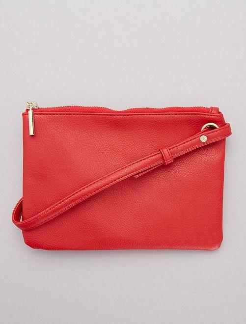 Sac à main pochette à bandoulière                                         rouge Femme
