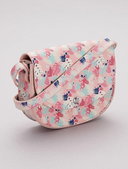 Sac bandoulière à fleurs                             rose
