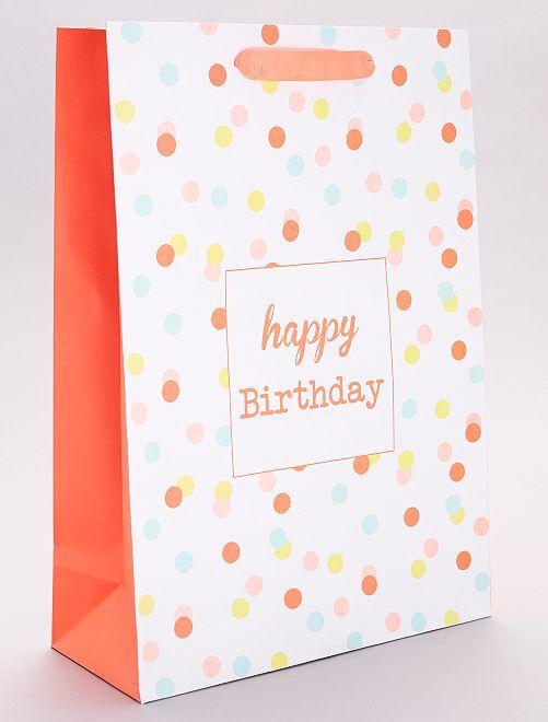 Sac cadeau 'Happy birthday'                             multicolore
