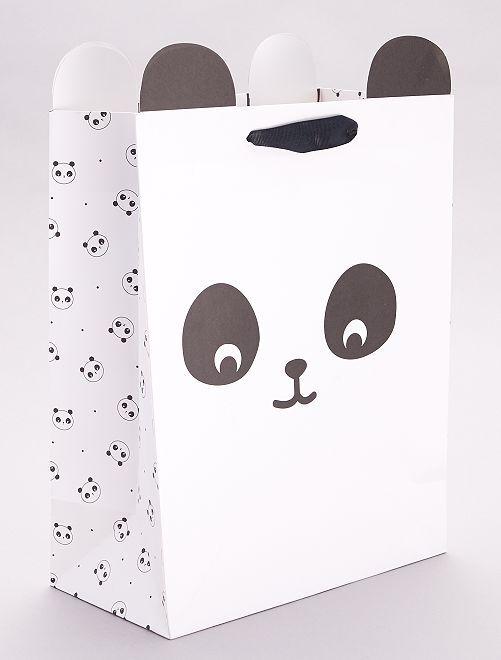Sac cadeau 'Panda'                                         blanc/noir