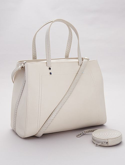 Sac en simili                                         beige