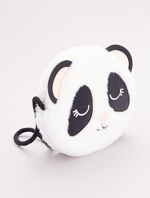 Sac 'panda' peluche                             blanc